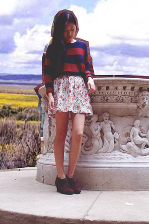 Love Culture skirt - Forever 21 sweater - My Hot Shoes wedges