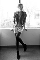 PacSun boots - PacSun dress - Sheinside jacket