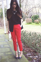 shoplately necklace - H&M pants