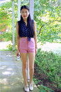 Forever-21-shoes-vintage-shorts-ralph-lauren-top