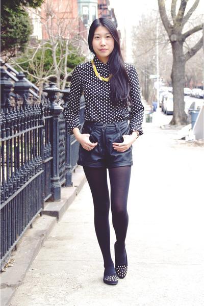 black Pop Basic blouse - yellow Pop Basic necklace - black My Hot Shoes flats