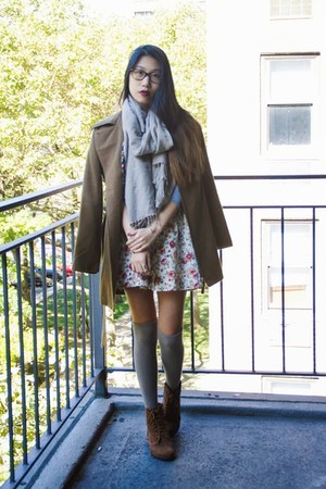 Target coat - My Hot Shoes boots - Love Culture skirt - shoplately ring