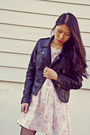 Black-sheinside-jacket-zara-shoes-vintage-dress
