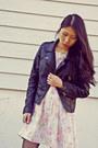 Black-sheinside-jacket-zara-shoes-vintage-dress