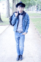 Zara hat - slim jean Cheap Monday jeans - Levis jacket