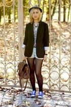 Topshop jacket - Bershka shorts - Topshop sneakers