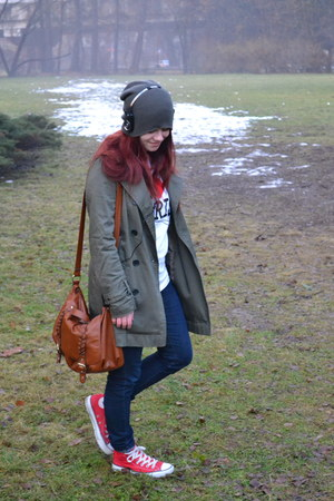 NYer coat - NYer jeans - NYer hat - from paris shirt - H&M bag