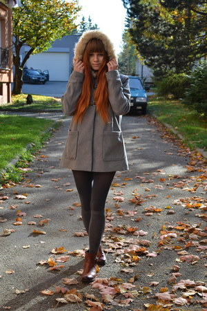 gray tezenis tights - heather gray Tally Weijl coat