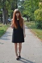 united colors of benetton dress - H&M necklace - Zara heels