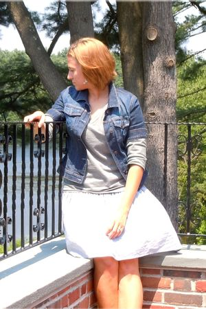 blue H&M skirt - silver Target shirt - blue New York & Co jacket