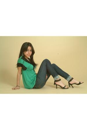 blouse - shoes - jeans