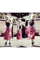 skirt DIY skirt - charity shop shirt - converse Converse pumps