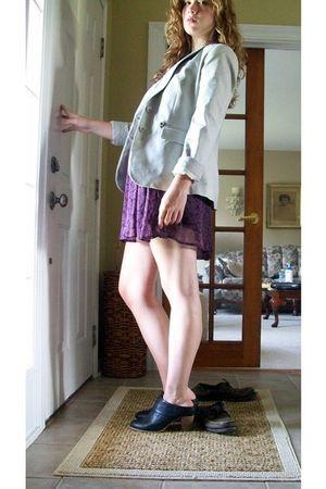 beige New York & Company blazer - purple Charlotte Russe dress - black Deena & O