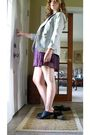 Beige-new-york-company-blazer-purple-charlotte-russe-dress-black-deena-o