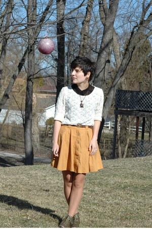 sheer JC Penney shirt - lace Goodwill GW shirt