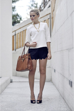 Cosmo bag - Style Sofia shorts - Zara top - Fabi heels
