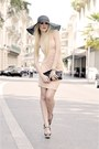 Peach-michelle-jonas-dress-black-h-m-hat-black-b-low-the-belt-bag-black-za