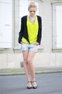 H-m-blazer-zara-shirt-zara-shorts-morgan-heels-vintage-accessories