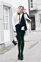 Zara blouse - Mango tights - Michael Kors bag - Style Sofia skirt - Zara heels
