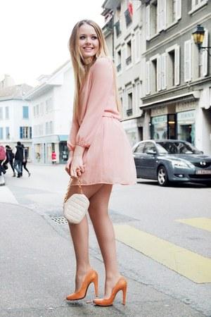 peach peach dress