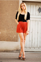 H&M shirt - Love shorts - Zara wedges
