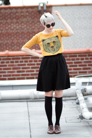 asos top - vintage shoes - Japan socks - vintage skirt