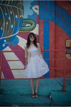 vintage dress - thrifted cardigan