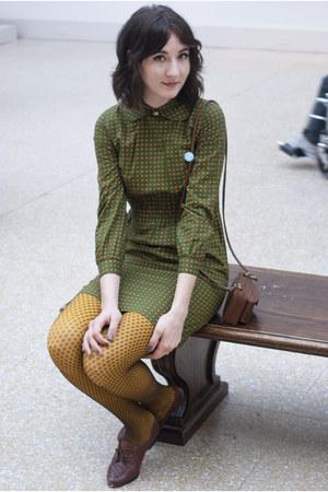 vintage dress - Ross tights