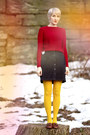Zara-sweater-we-love-colors-tights-thrifted-vintage-skirt