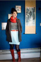 vintage boots - Forever 21 jacket - Ross shirt - Forever 21 scarf - thrifted ski