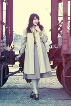 vintage shoes - vintage coat - vintage skirt