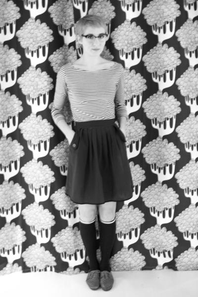 pibs xchange skirt - Harajuku socks - H&M blouse