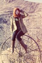 vintage boots - Gadzooks coat - handmade hat