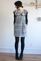 modcloth dress - vintage boots