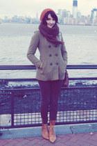 Gadzooks coat - vintage boots - vintage hat - gift scarf - gift pants