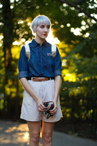 thrifted vintage shorts - Joe Fresh blouse