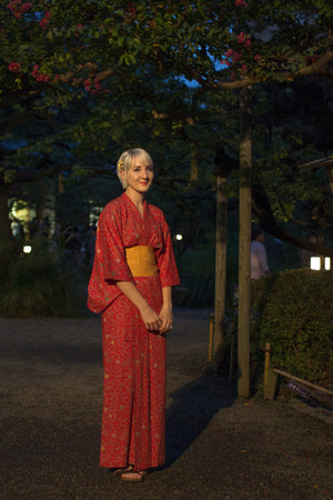 red vintage yukata vintage dress