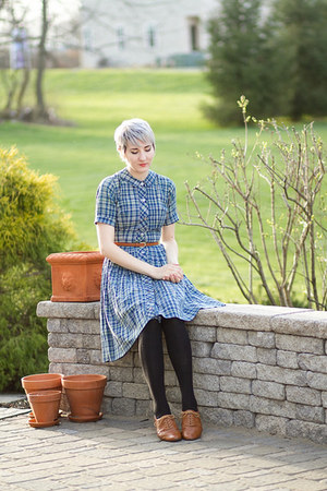 thrifted shoes - vintage dress