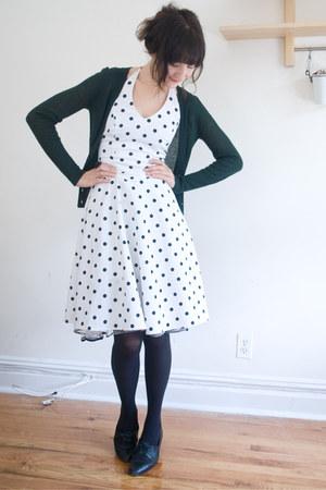 vintage dress - J Crew cardigan