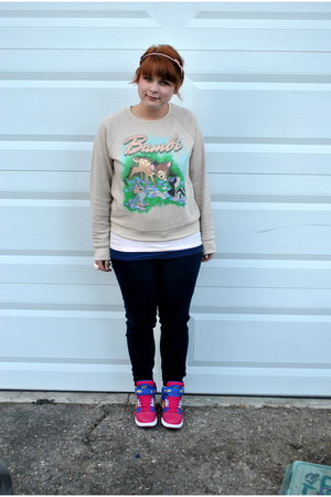 nikeid nike sneakers - bambi Forever 21 sweatshirt