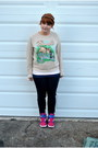 Bambi-forever-21-sweatshirt-nikeid-nike-sneakers