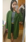 Olive-green-ohmylove-coat-black-h-m-skirt-navy-striped-top-new-look-top