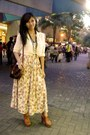 Floral-maxi-skirt-white-sheer-top