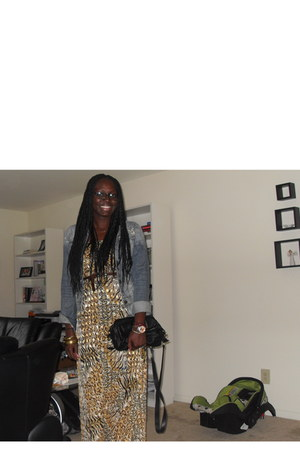 maxi dress Self Made dress - denim jacket jacket