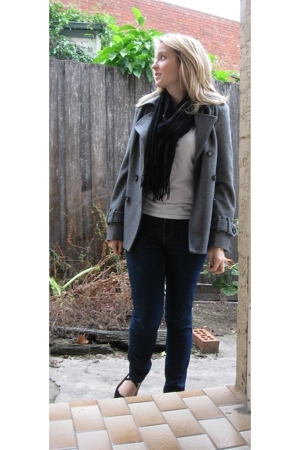 Sportsgirl coat - Myer accessories - Sportsgirl jeans - top - Witchery shoes