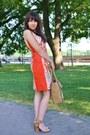 Carrot-orange-more-more-dress-light-brown-parfois-bag