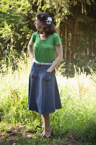denim Kellie Falconer Design skirt