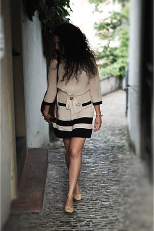 leather unützer loafers - silk Moschino Love dress - leather Hermes Paris bag