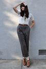 Beige-vintage-hat-white-blouse-gold-forever-21-necklace-brown-belt-blue-