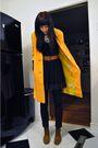 Orange-vintage-jacket-black-thrifted-dress-black-brown-urban-outfitters-bo